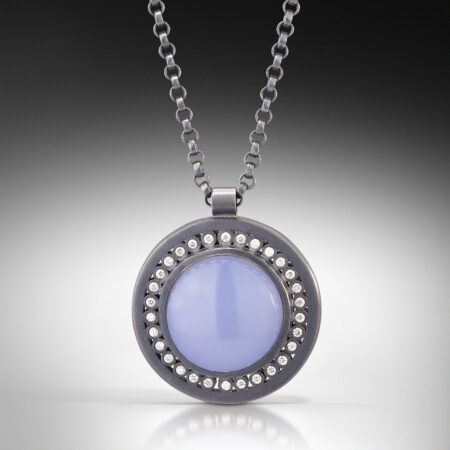 nsp27s - Night Sky Cabochon Medallion Pendant